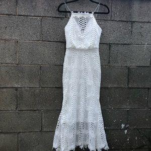 PrettyLittleThing Gorgeous White WeddingMaxi Dress
